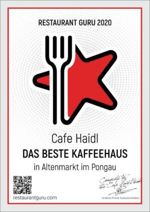 Auszeichnung Restaurant Guru